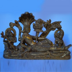Anantha Padmanabha antique brass idol