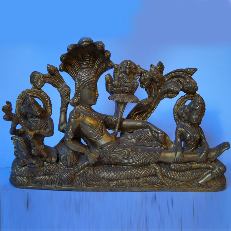 Anantha Padmanabha antique brass idol