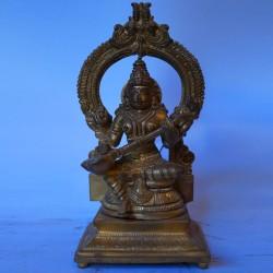 Goddess Saraswati brass Idol