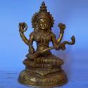 Goddess Saraswati with veena brass idol