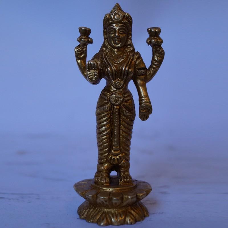 Goddess Lakshmi Standing brass statue