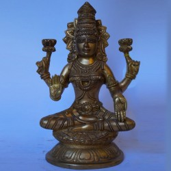Blessing goddess Lakshmi brass Idol