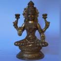 Blessing goddess Lakshmi brass Idol