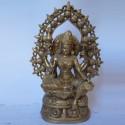 Lakshmi devi with kalash prabhavali brass statue