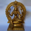 Beautiful Brass made Lakshmi idol with peeta prabhavali