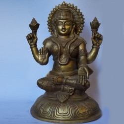 Antique finish brass idols of goddess Lakshmi