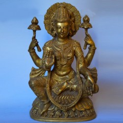 Beautiful Goddess Lakshmi brass statue