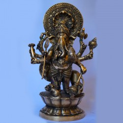 Antique finished Lord Ganesha brass idol