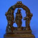 Brass Sri Ram Darbar with peeta prabhavali