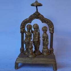 Beautiful Sri Ram Darbar brass statue