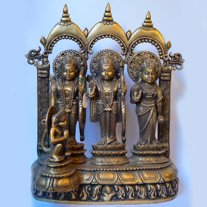 Beautifully carved Ram Darbar