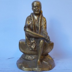 Beautiful Sai baba blessing brass idol