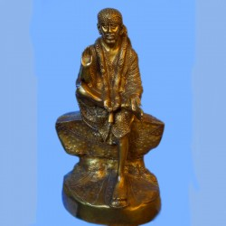 Shirdi Sai baba blessing beautiful brass idol