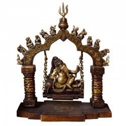 Antique finish brass Jhoola Ganesha