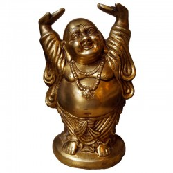 Happy Man Brass statue