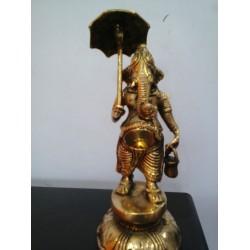 8 Inches Ganesha Holding Umbrella