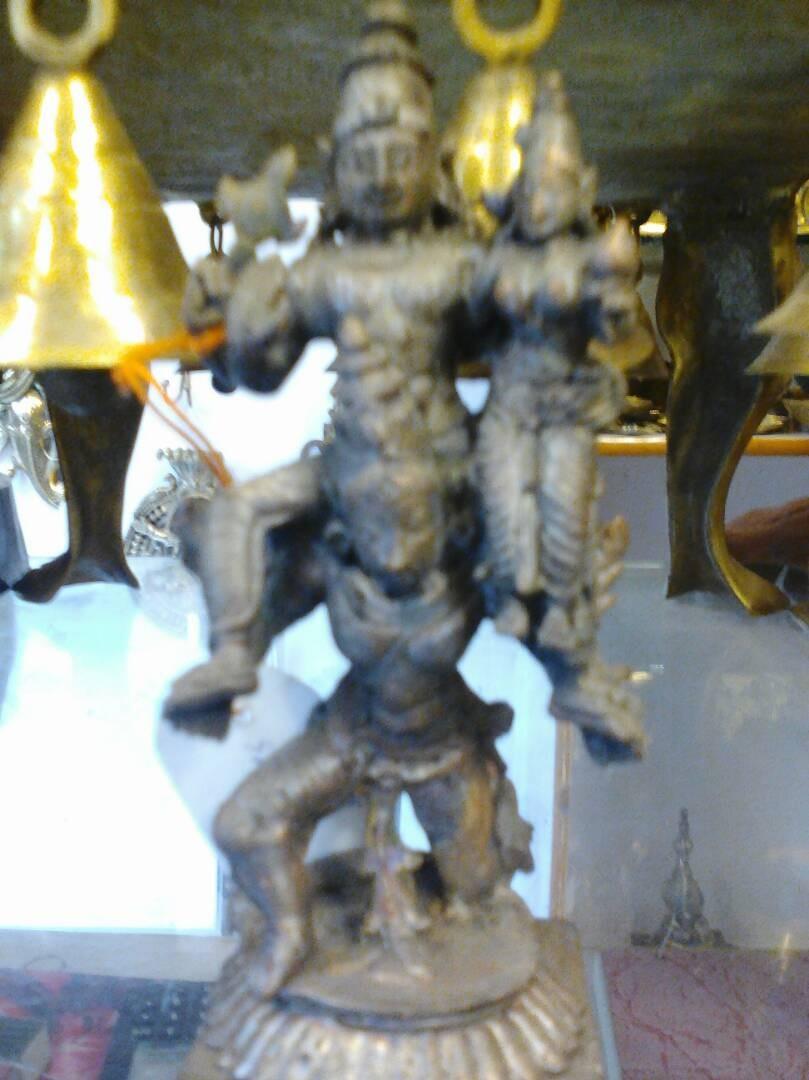 Rama Sita on Garuda Vahana Copper Statue