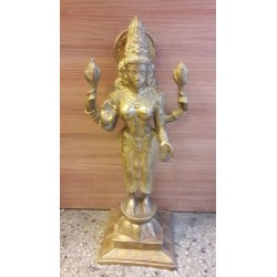 25 inches height Goddess Lakshmi standing brass statue