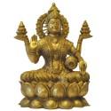 Sri Lakshmi Brass Statue on Kamala / Lotus