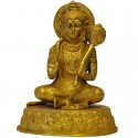Sitting Hanuman / Anjaneya Blessing Brass Statue