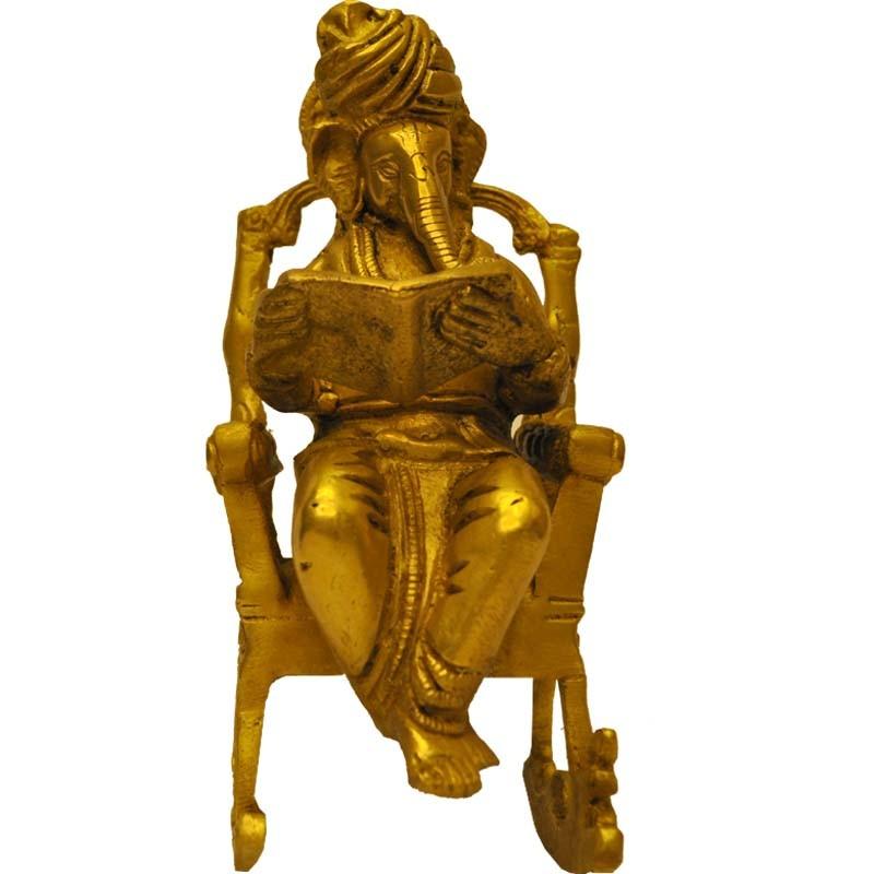 Reading Ganesha on Rocking Chair