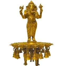 Mooshika Holding Ganesha Deepa