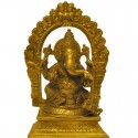 Peeta Prabhavali Ganesha Brass Idol