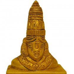Lord Balaji Face Brass Statue