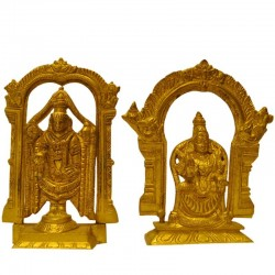 Lord Balaji with Padmavathi Brass Idol