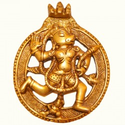 Wall Hanging Hanuman Brass Idol