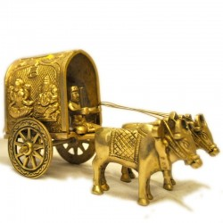 Bullock Cart with Lakshmi & Ganesha Motiff