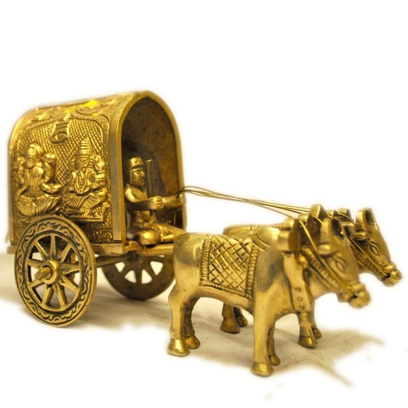 Bullock Cart with Lakshmi & Ganesha Motiff