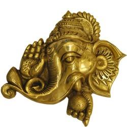 Wall Hanging Brass Ashirvad Ganesha