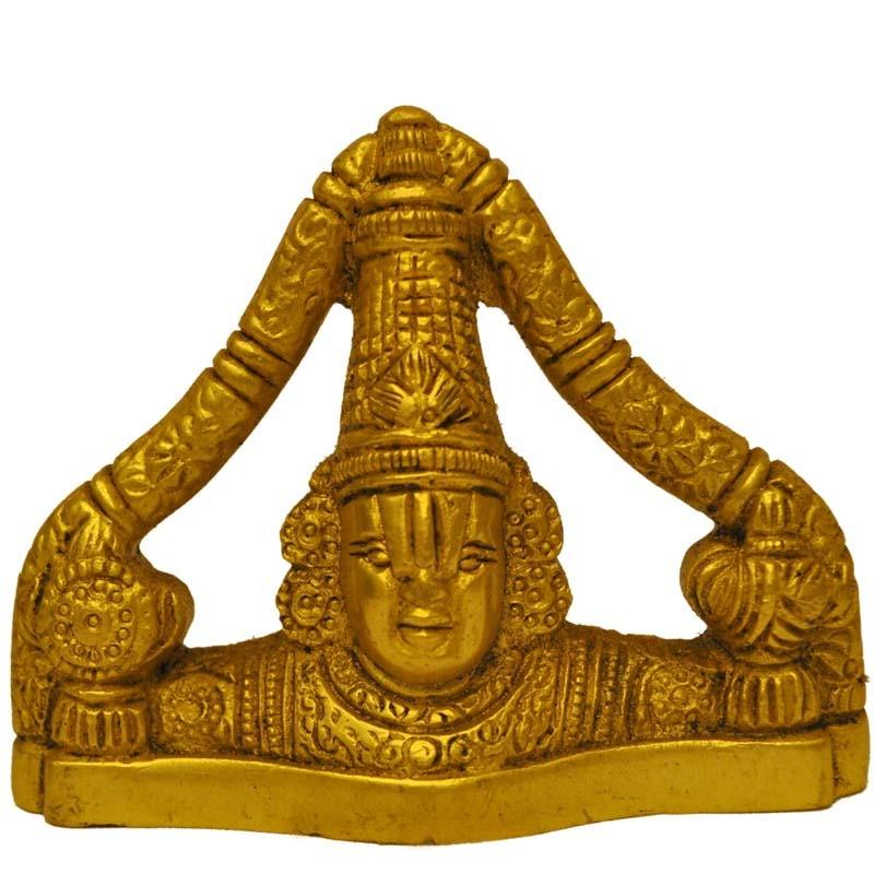 Venkateswara Face Brass Idol