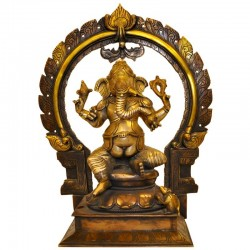 Ganesh With Prabhavali - Three Tone