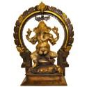 Ganesh With Prabhavali Arch - Three Tone
