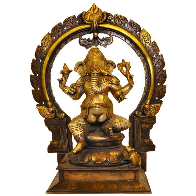 Ganesh With Prabhavali - Three Tone