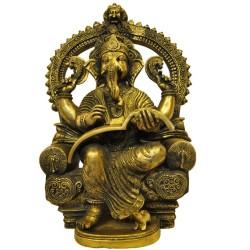 Vidya Ganapathi Brass Statue