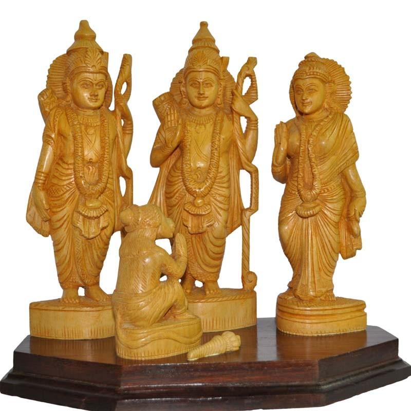 Rama Dharbar Wood Statue