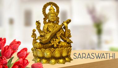 saraswathi brass idol