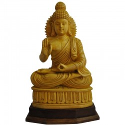 Buddha vitarka mudra wooden statue