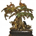 Radha Krishna Under Tree Brass Idol