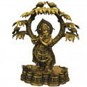 Krishna Under The Tree Two Tone Brass Idol