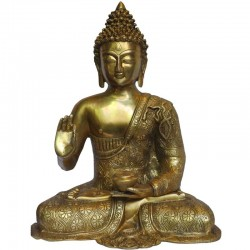 Blessing Buddha Brass Idol