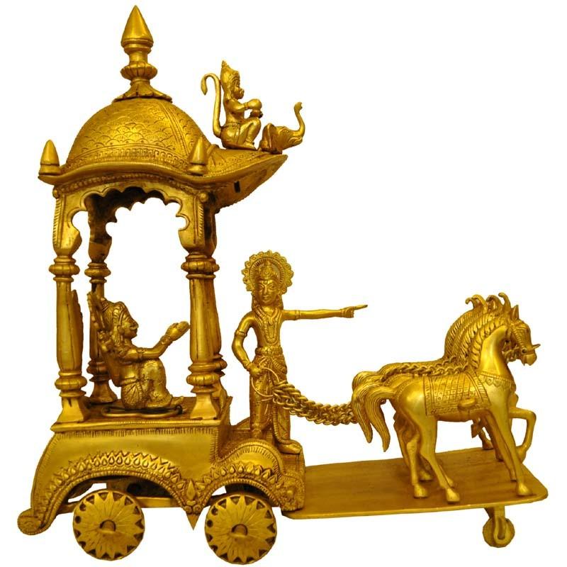 Krishna -Arjuna Bhaghavath Geeta bodhana Brass Idol