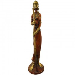 Tribal Lady Brass Statue