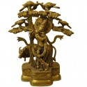 Krishna Under Tree brass Statue