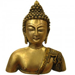 Buddha Bust Statue made with 3.2 kg pure brass figure