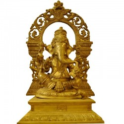 Lambodara Brass Statue
