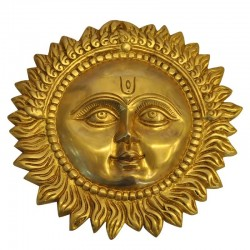 Wall Hanging Sun Brass Statue